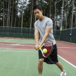 Outdoor Door Tennis - Backhand Stroke — Stock Photo