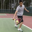 Stock fotografie: Tennis Single handed backhand