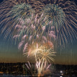 Fireworks on fourth of July in Seattle Washington — Stock Photo