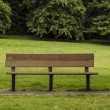 Empty Park Bench in large field — Stock Photo #11929904