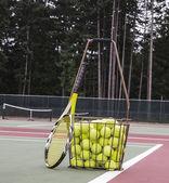 Tennis praktijk — Stockfoto