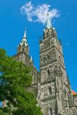 Kościół św wawrzyńca w norymberdze — Zdjęcie stockowe