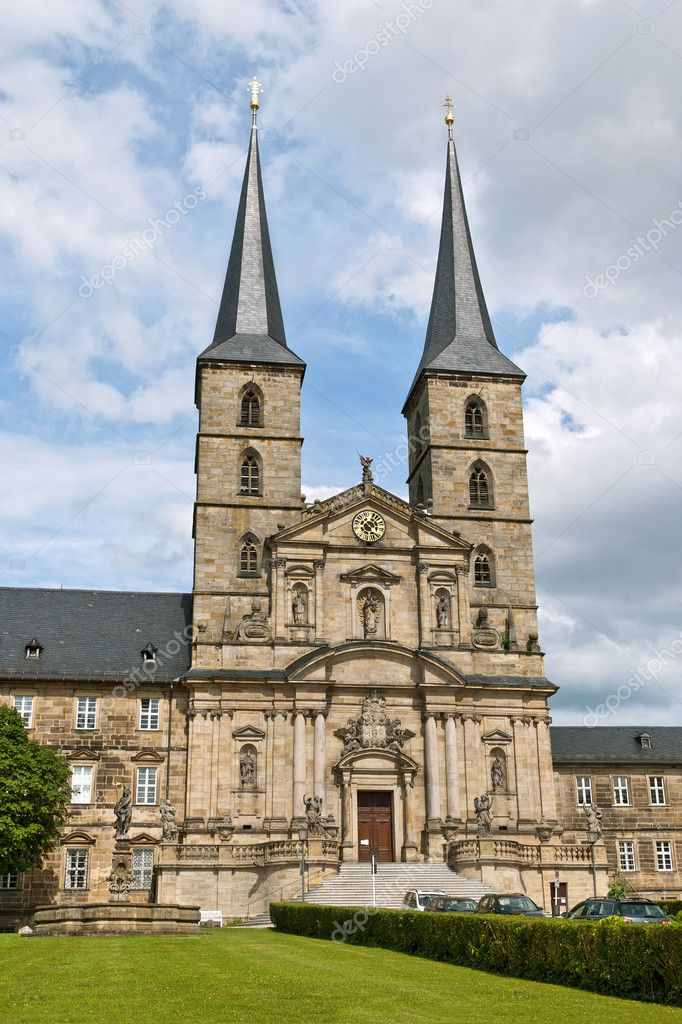 Michaelsberg Abbey or Michelsberg Abbey, also St. Michael's Abbey, Bamberg (German: Kloster Michaelsberg or Michelsber), former Benedictine monastery in Bamberg in Bavaria, Germany. — Stock Photo #11608077