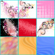 Abstract backgrounds set — Stock Vector