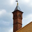 Stock Photo: Chimney on roof of old house