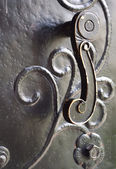 Old metal door-handle — Stock Photo