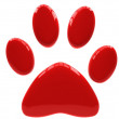 Stock Photo: Paw print