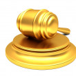 Gold gavel — Stock Photo