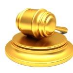Gold gavel — Stock Photo #11704706