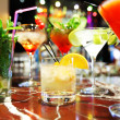 Colorful cocktails — Stock Photo