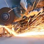Metal sawing close up — Stock Photo #10738920