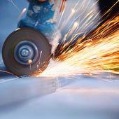 Sciage métal bouchent — Photo