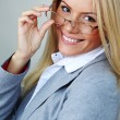 Business woman in glasses — Stock Photo #10887961