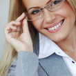 Business woman in glasses — Stock Photo #10887976