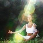 Lotus yoga sunrise — Stock Photo #10888815