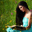 Girl with book — Stock Photo #11016905