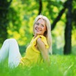 Woman on grass — Stock Photo #11287637