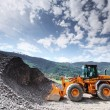 Royalty-Free Stock Photo: Excavator in alps