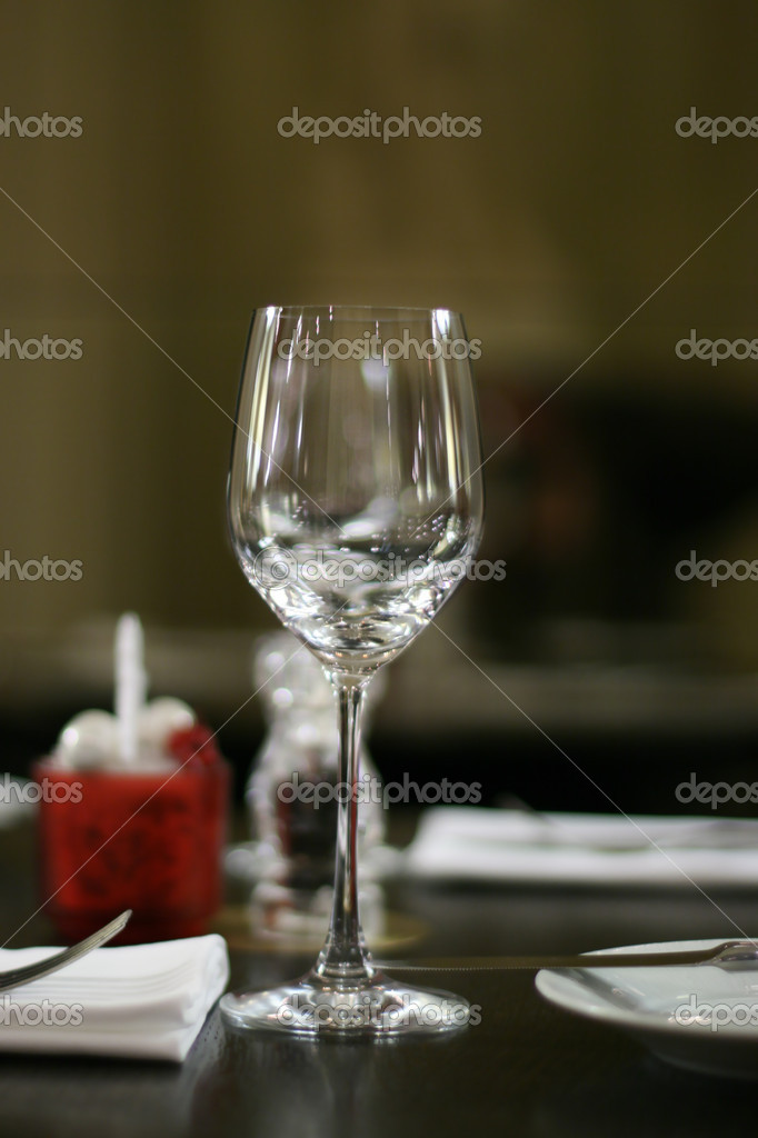 Glass on a served table — Stock Photo #11309465