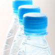 Blue water in bottle — Stock Photo