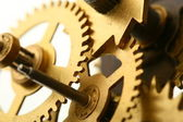 Mechanical clock gear — Stock fotografie