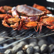 Crab on charcoal grill — Stock Photo #11365871