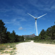 Wind turbines farm in spain - Stock Photo