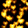 Stock Photo: bokeh hearts