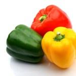 Colored paprika — Stock Photo