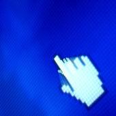 Finger corsor — Stock Photo