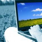 Laptop nature work — Stock Photo #11579634