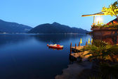 Night lugano lake landscape — Stock Photo