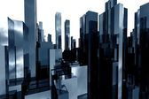 Abstract skyscrapers 3d — Stock Photo