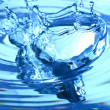 Blue water splash — Stock Photo