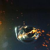 Blue water splash — Stock Photo