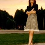 Beautiful woman walking — Stock Photo #11599228