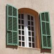 Old window on the wall — Stock Photo