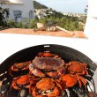 Crab on charcoal grill — Stock Photo #11955408