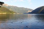 Lugano lake landscape — Stock Photo