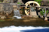 Water Wheel detail from live museum. — Stock Photo