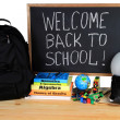 Welcome Back to School - School Supply — Stock Photo #11507965