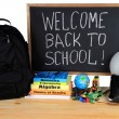 Welcome Back to School - School Supply — Stock Photo