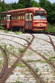 Railway Interurban public transportation, streetcar, tram. — Stock Photo