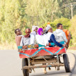 Using local public transportation in Dilla, Ethiopia — Stock Photo