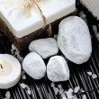 Spa still life with few white stones — Stock Photo #11151216