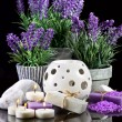 Royalty-Free Stock Photo: Spa still life with purple flowers