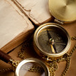 Vintage background with old compass — Stock Photo #11154704