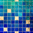 Abstract blue mosaic background — Stock Photo