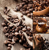 Collage of coffee still life — Stock Photo