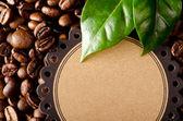 Fond de grains de café avec place pour le texte — Photo